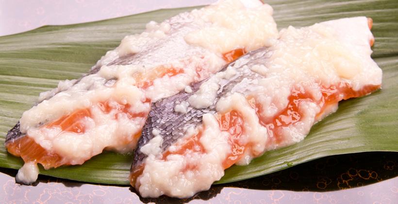 麹に漬けた魚