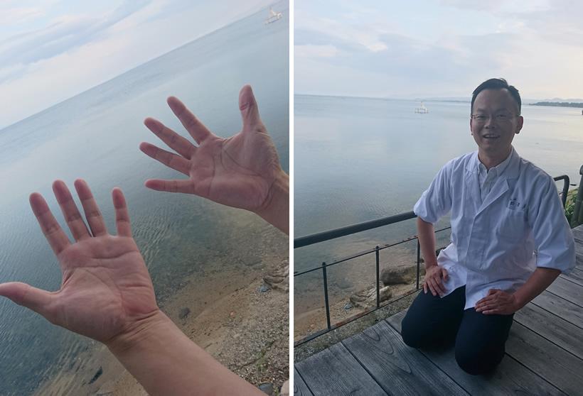 左嵜謙祐さんの手