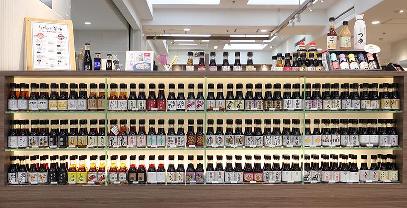 「職人醤油」(松屋銀座店)の店頭に並ぶ醤油