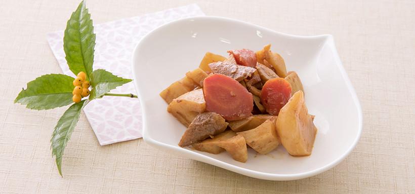 根菜のバルサ味噌煮