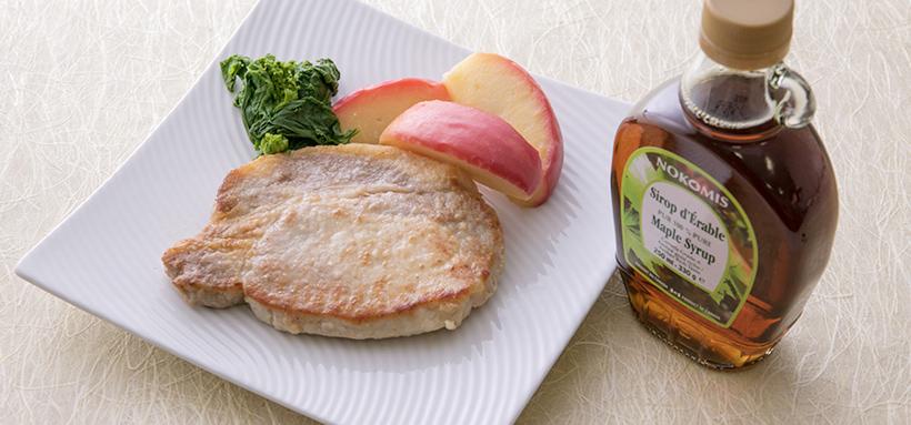 発酵バターを使ったメープル豚ソテー
