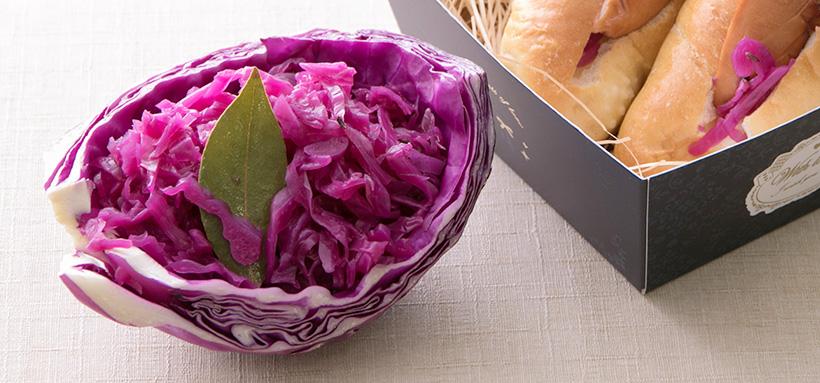 紫キャベツのザワークラウト風