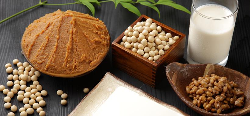 味噌と大豆、納豆